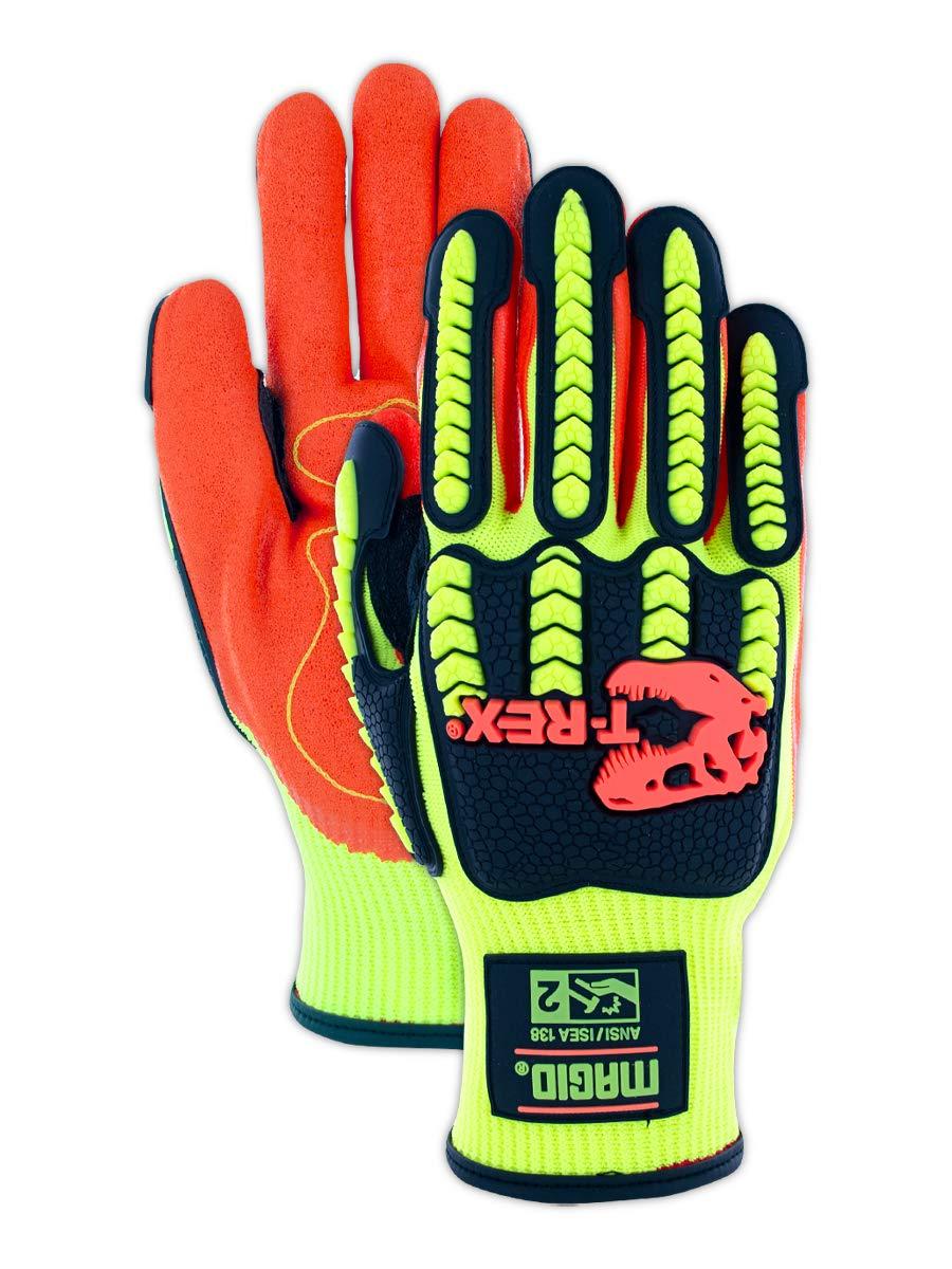 CrudeHands 9075-SS-G1-M SmartSkin Warm Weather Impact Gloves Black//Orange Medium