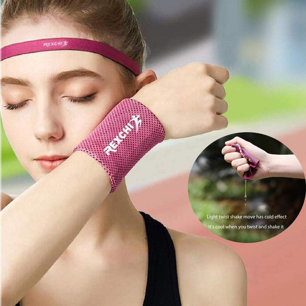 SimpleL Wristband Athletic Exercise Basketball Wrist Sweatband and Moisture Wicking Ice Cooling Sweat Absorbing for Men and Women