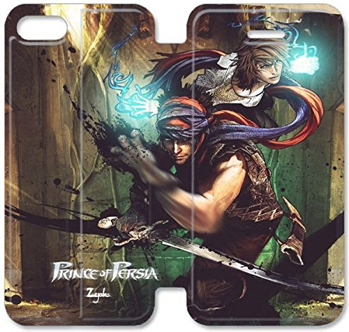 Coque iPhone 5C Coque Cuir, Klreng Walatina® 5C PU Cuir de portefeuille Coque Design By Prince Of Persia Fan Art Personnages Arm N7X7Ev