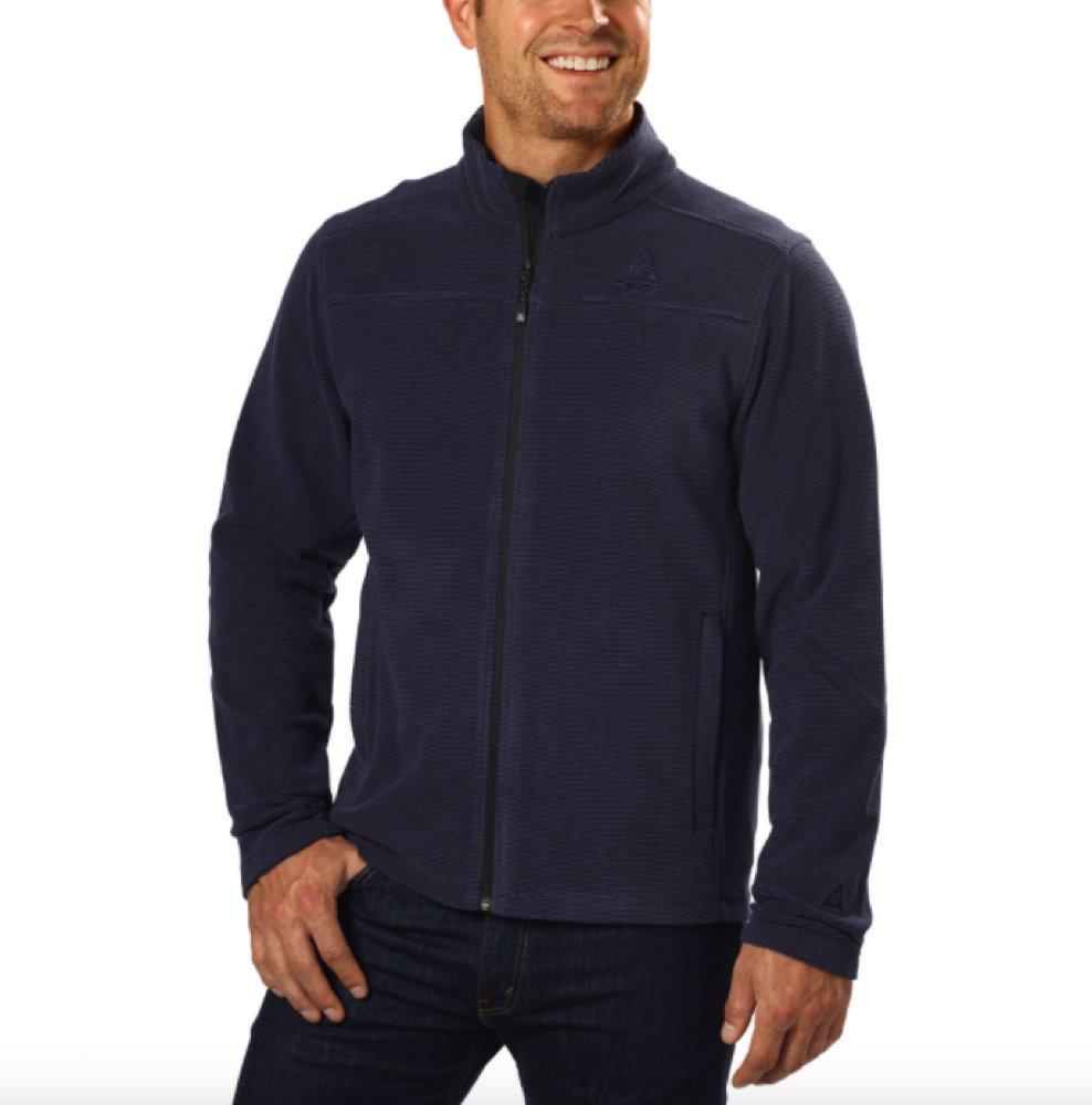 Gerry Men's Sweater Fleece Jacket (Small, Nocturne)