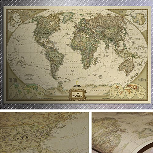 Generic retro paper vintage world map antique poster wall chart generic retro paper vintage world map antique poster wall chart home deco buy online in uae products in the uae see prices reviews and free delivery gumiabroncs Images
