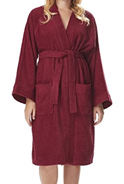 Image Unavailable. Image not available for. Color  e-XCEPTIONAL SALES  Kimono Style Women s 100% Cotton Terry Cloth Spa Bathrobe ... a934f60db