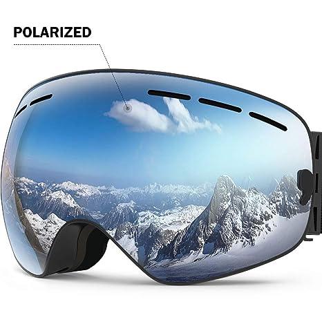 51f8cb9863c ZIONOR Lagopus X Ski Snowboard Snow Goggles OTG Design for Men Women with  Spherical Detachable Lens UV Protection Anti-Fog  Amazon.ca  Sports    Outdoors