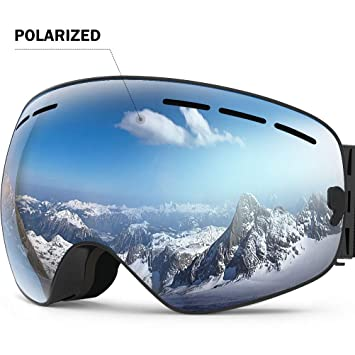 dd79f0e1764a ZIONOR Lagopus X Ski Snowboard Snow Goggles OTG Design for Men Women with  Spherical Detachable Lens
