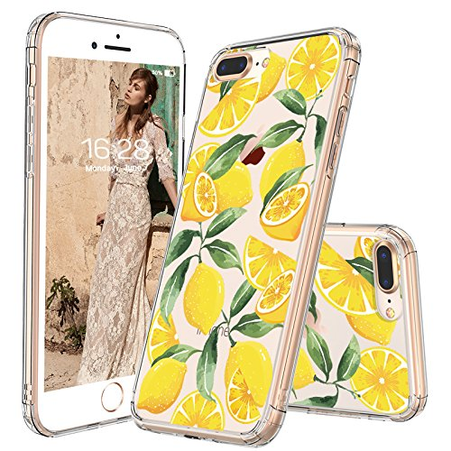 iPhone 8 Plus Case, iPhone 7 Plus Case, MOSNOVO Lemon Clear Design Transparent Printed Plastic Hard Back Case with TPU Bumper Protective Case Cover for Apple iPhone 7 Plus/iPhone 8 Plus