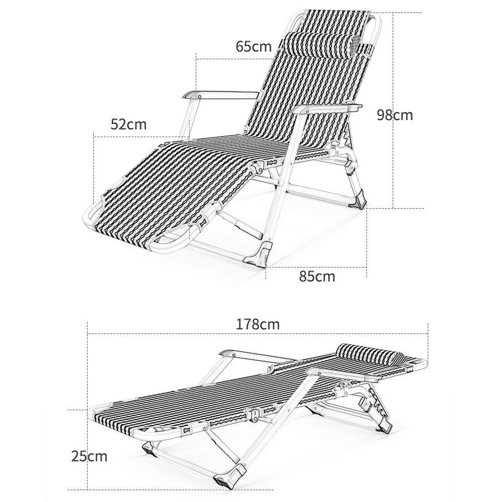 Amazon.com: Silla reclinable plegable para exteriores, silla ...