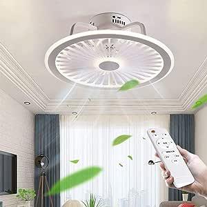 OUJIE Ventilador De Techo LED con Iluminación, Luz De Techo ...