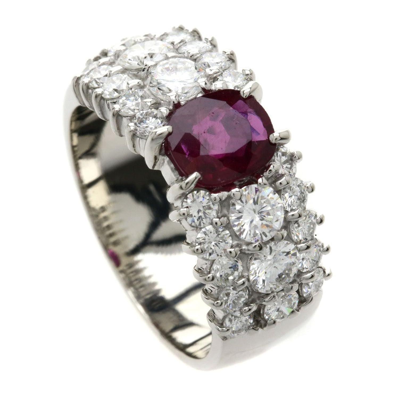 [セレクトジュエリー]ルビー/ダイヤモンド リング指輪 プラチナPT900 レディース (中古) B07BP57QL1