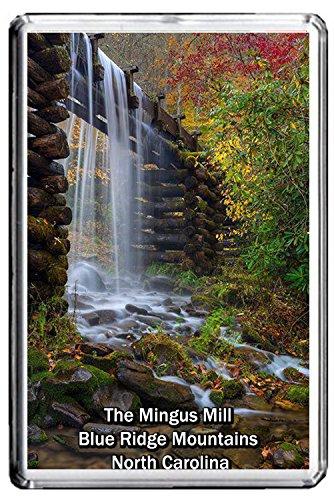 0316 THE MINGUS MILL BLUE RIDGE MOUNTAINS NORTH CAROLINA JUMBO PHOTO REFRIGERATOR MAGNET FRIDGE MAGNET