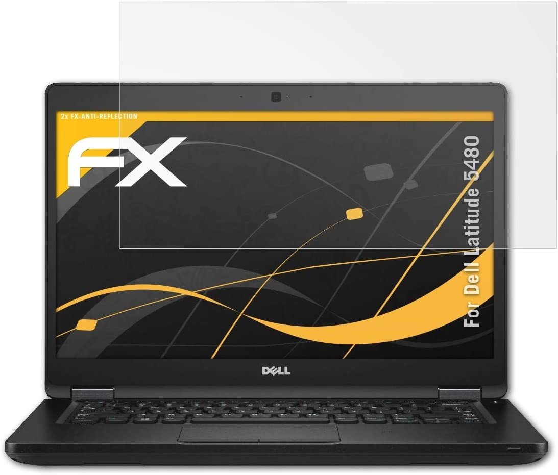 atFoliX Screen Protector Compatible with Dell Latitude 5480 Screen Protection Film, Anti-Reflective and Shock-Absorbing FX Protector Film (2X)