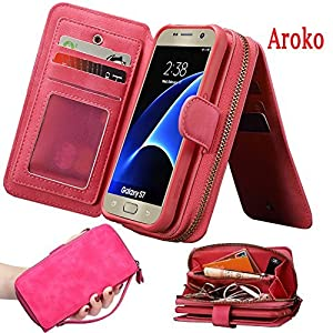 Galaxy Note 9 Zipper PU Leather Wallet Case Handmade Case Cover Large Capacity Wallet Case with Zipper Wallet Case for Samsung Galaxy Note 9