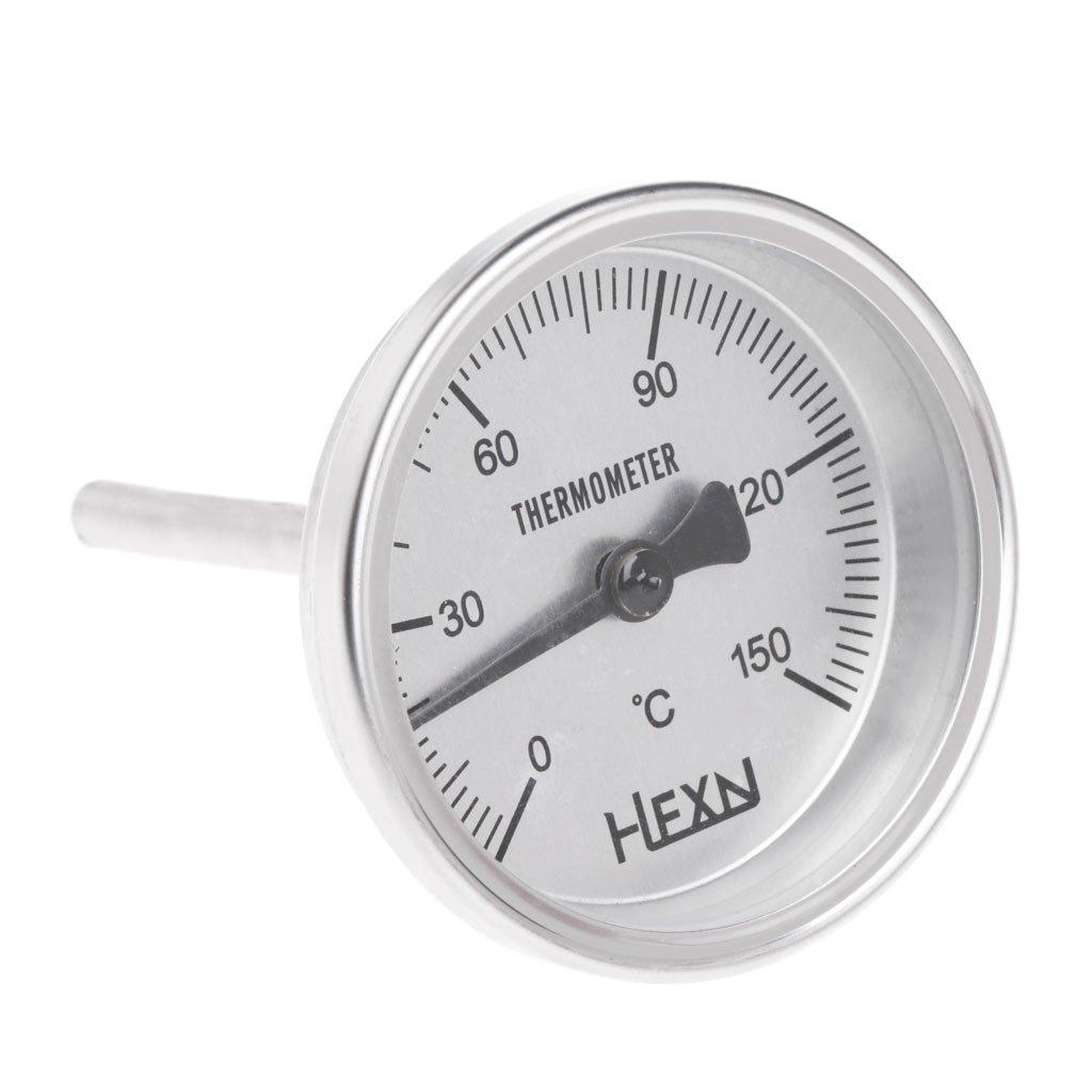 indicador de cocci/ón de alimentos Moonshine Term/ómetro de cocina de acero inoxidable con rosca 1//4 PT DENGHENG