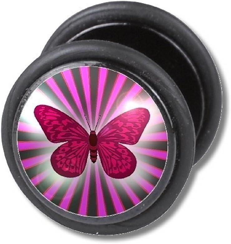 Dilatador Falso Piercing Plug, Pendiente, Mariposa: Amazon.es: Joyería