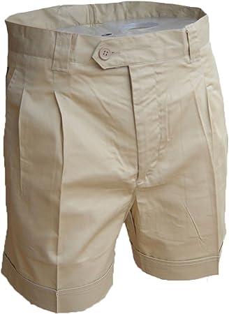 TALLA 44. Fratelliditalia Bermuda Pantalones Short Hombre Verano Algodón Deportivo Playa Bolsillos Pesca