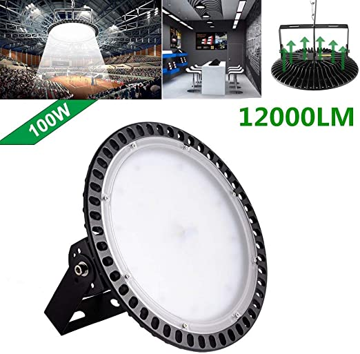 100W LED High Bay Light UFO Lamp Industrial Warehouse Factory Workshop Lighting