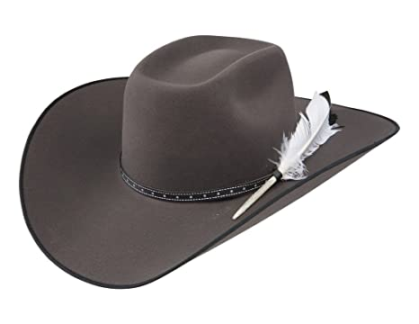 c9b59316e621d Resistol Mens 79 Phantom 4 1 4in Brim Felt Cowboy Hat at Amazon ...