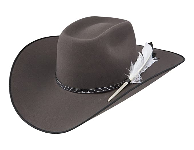 8ae3230f091 Resistol Mens 79 Phantom 4 1 4in Brim Felt Cowboy Hat 7 Granite Grey