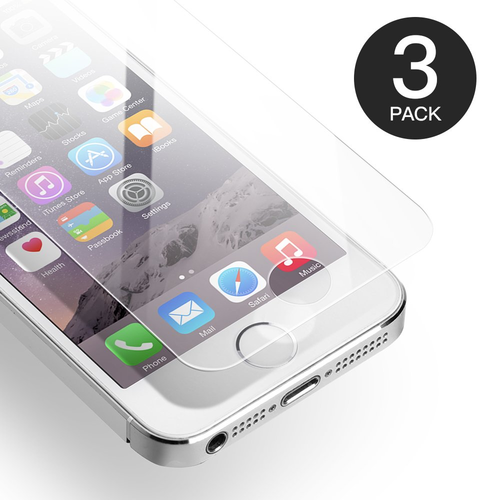 AXHKIO Pellicola Protettive Compatibile con iPhone SE/ 5S/ 5/ 5C Vetro Temperato(4 Pollici)-0,25mm, HD Trasparente, 9H Durezza, 3D Touch GPIP78PL025