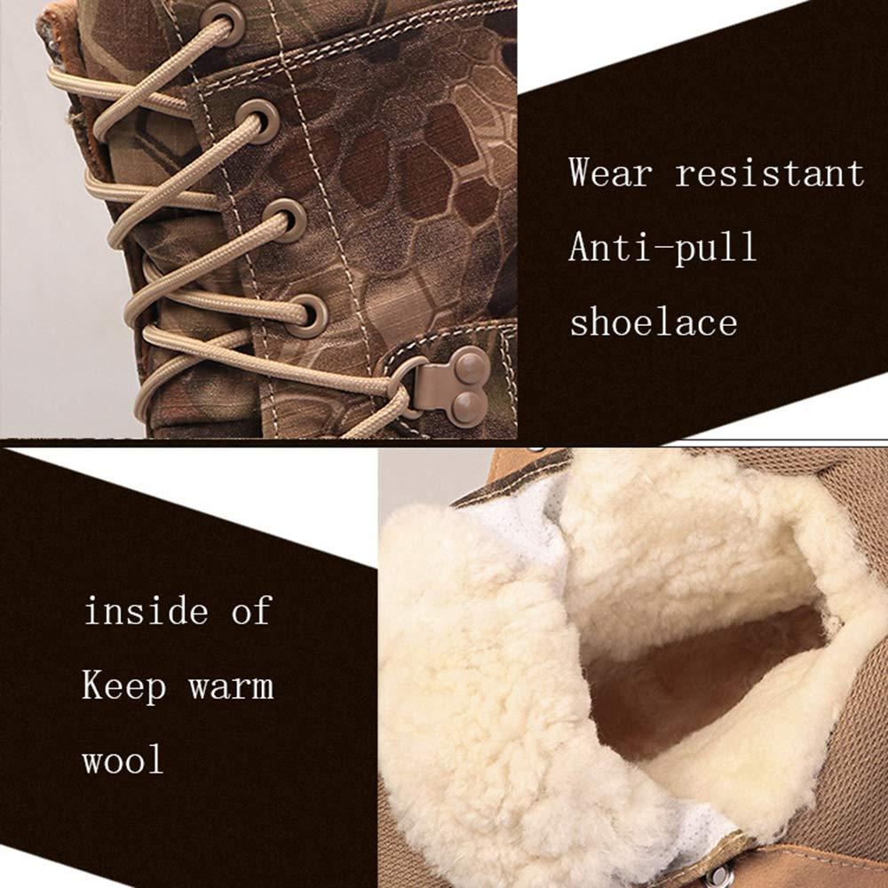 QIKAI Kampfstiefel Herren Kampf Winterverdickung Stiefel Taktische Kalte Kalte Kalte Schneeschuhe Rutschfeste Tarnung Spezielle Stiefel 791274