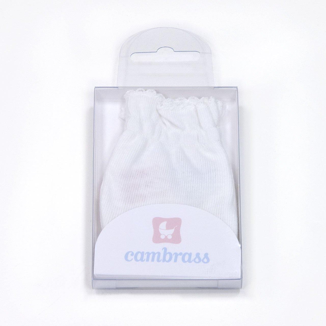 Cambrass Tricot-Paio di guanti blu per neonati