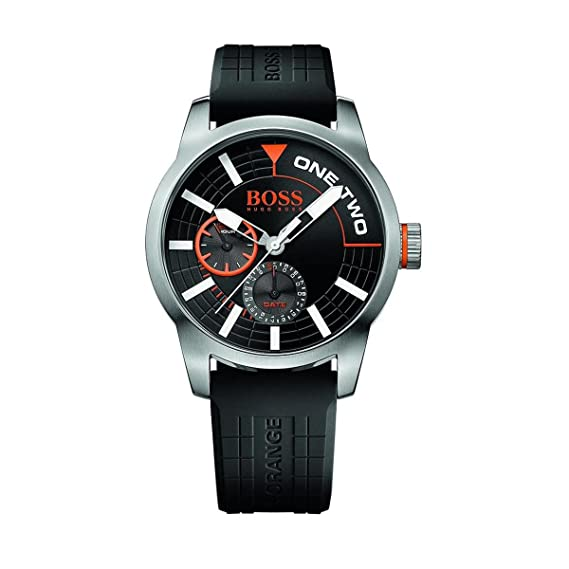 Hugo Boss naranja silicona Mens Reloj 1513305 by Hugo Boss