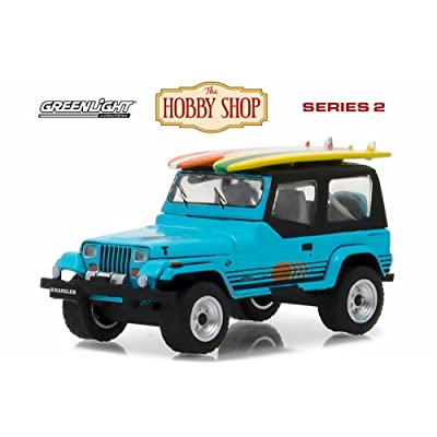 1987 Jeep Wrangler YJ, Blue - Greenlight 97020C/48 - 1/64 Scale Diecast Model Toy Car