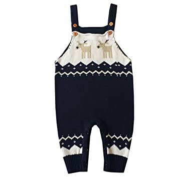 Toddler Bebé Pelele correa Mono feo Navidad renos de punto jersey, Azul oscuro: Amazon.es: Deportes y aire libre
