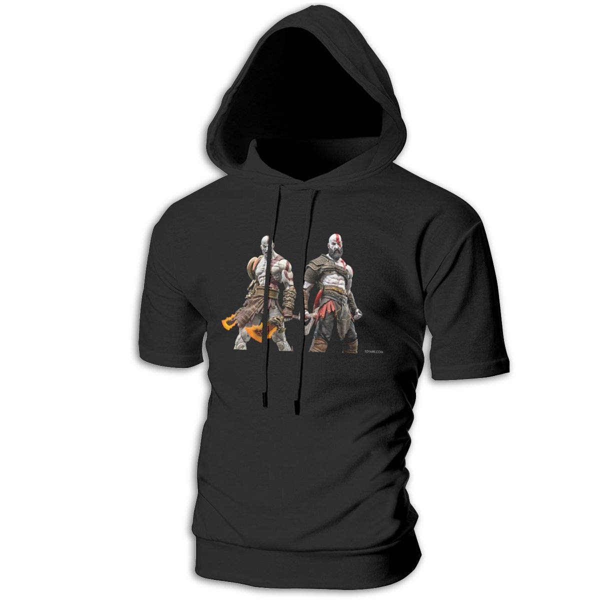 SHENGN Customized Mans with Hood Humor Kratos God of War 2018 Sweaters