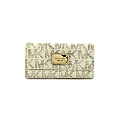 f5d63ec543bd Amazon.com: Michael Michael Kors Womens Mk Jet Set Checkbook Wallet: Michael  Kors: Shoes