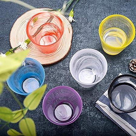 Pakopjxnx Copa de cristal colorida, para bar, hotel, fiesta, hogar, boda, vaso de cristal, vaso de whisky, cerveza, vino, azul, 1 unidad de 370 ml