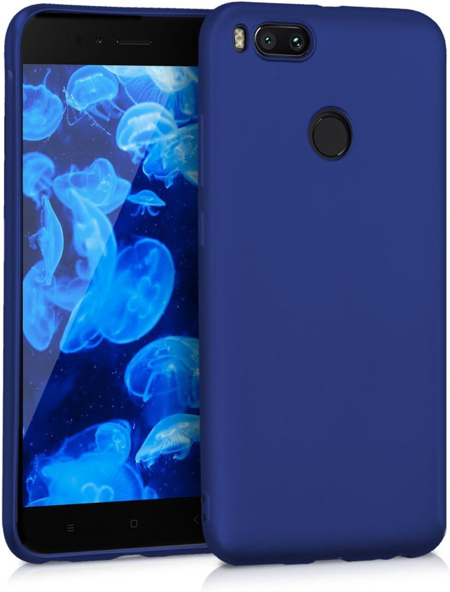 kwmobile Funda para Xiaomi Mi 5X Protector Trasero en Azul Claro Mate Carcasa para m/óvil en TPU Silicona Mi A1