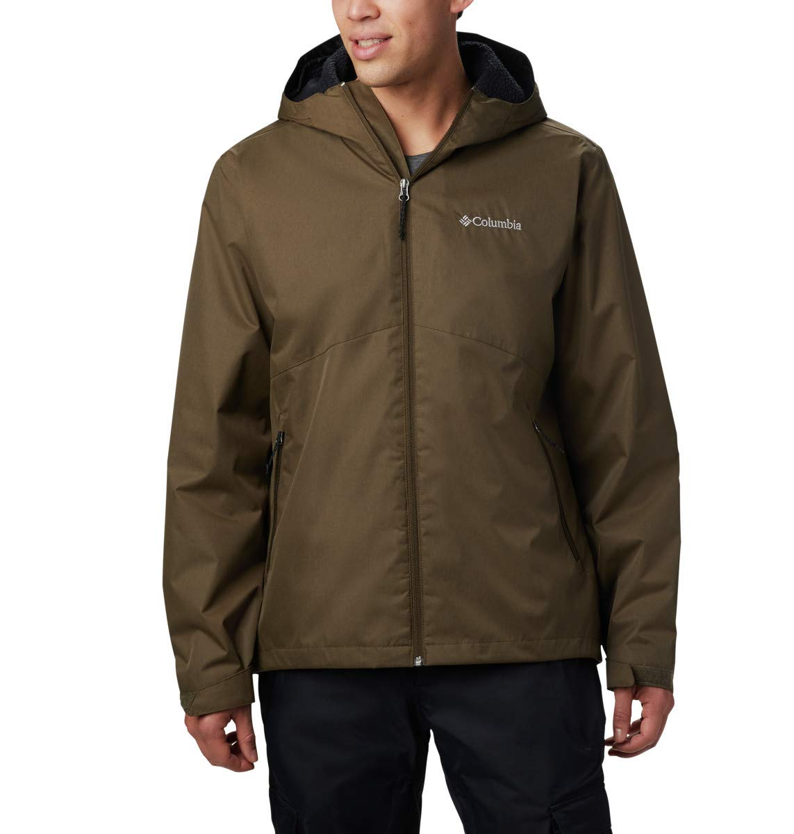 Columbia Men's Rainie Falls Jacket, Large, Olive Green by Columbia