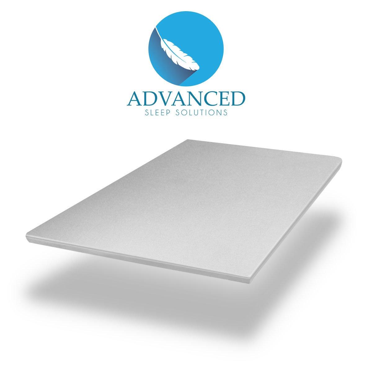 amazon com advanced sleep solutions memory foam mattress topper 2