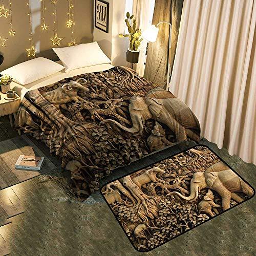 . Amazon com  UNOSEKS Home Indoor Modern Blanket mat Combination an