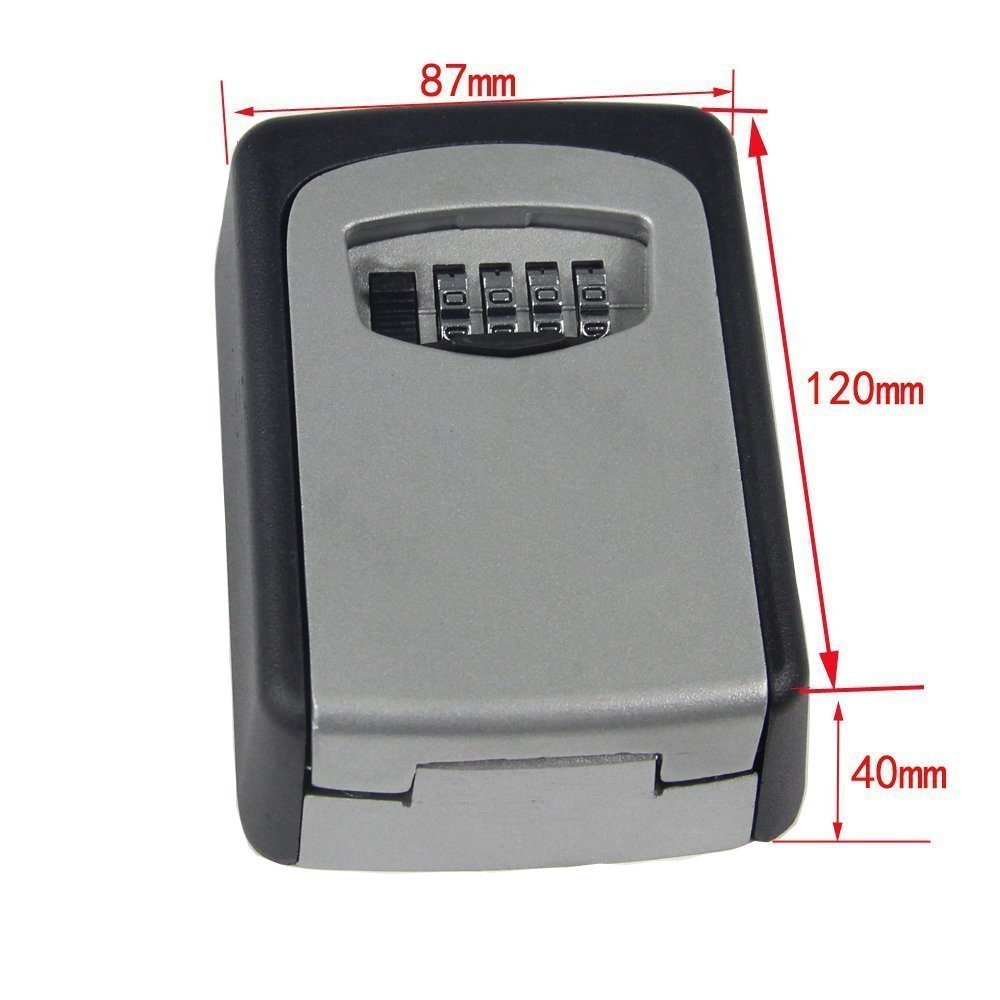 Combination Key Safe Box Lospu HY Wall Mount Key Lock Box More Convenient Key Storage Box with Set Your Own Combination Code Key Lock