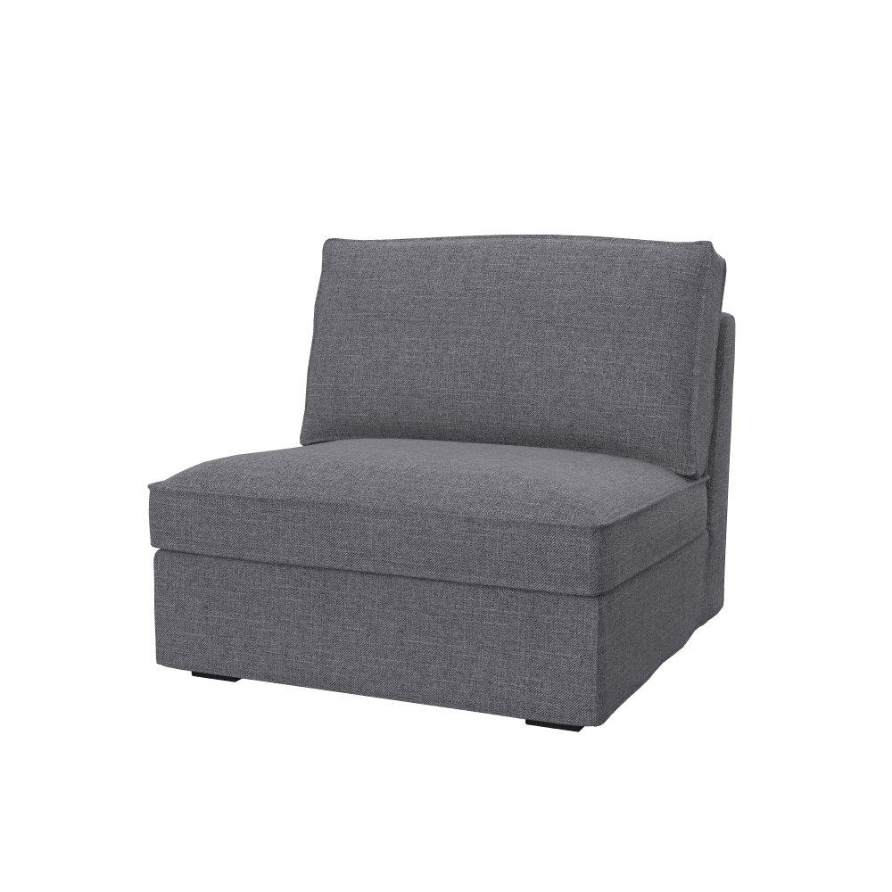 Soferia Bezug fur IKEA KIVIK sitzelement 1, Stoff Eco Leather Weiß B01MV5TW50 Sofa-überwürfe