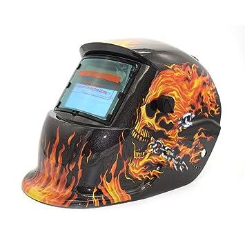 Solar Oscurecimiento Automático TIG MIG MMA Máscara de Soldadura Eléctrica Casco Soldador Tapa Lente Para Máquina de Soldadura Cortador de Plasma: ...