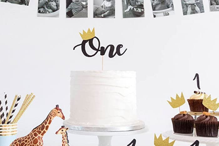 Age One Birthday Cake Topper Wild Crown Cake Topper Wild One First