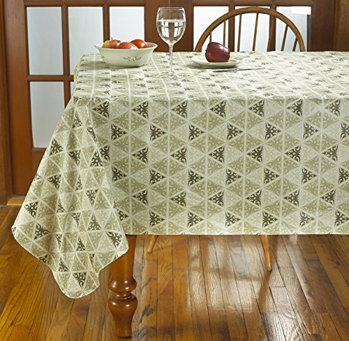 HomeCrate Prism Heavy-weight Vinyl Tablecloth Soft Flannel Backing - 52