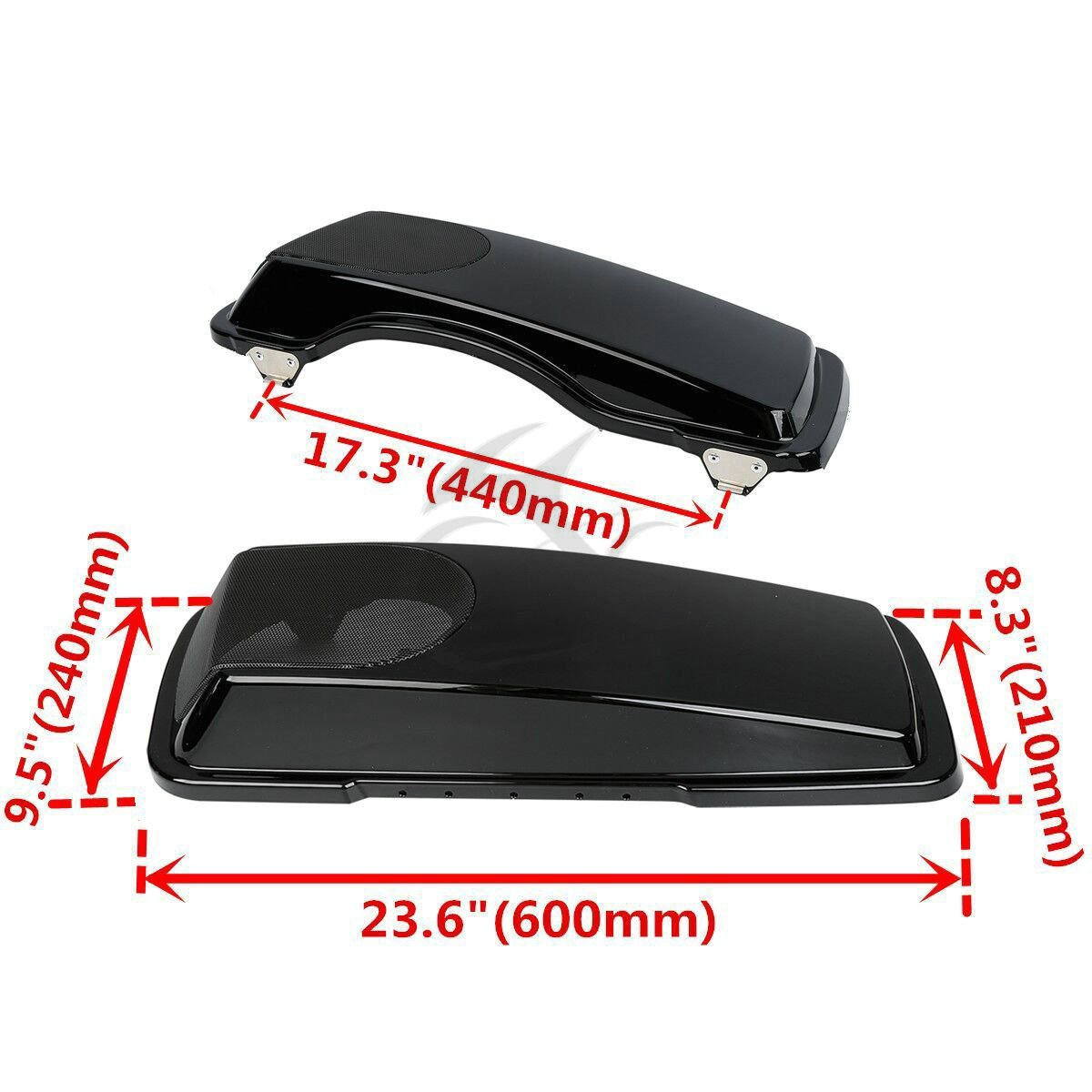 XFMT 5x7 Saddlebag Speaker Lids Compatible with Harley Electra Glide Road King Ultra CVO 1993-2013 2 ABS Plastic Mesh Covers