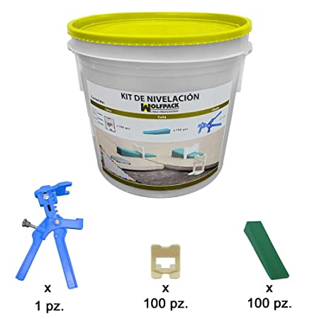 Wolfpack 2380100 Kit nivelador solador (pistola, calzos y cuñas): Amazon.es: Bricolaje y herramientas
