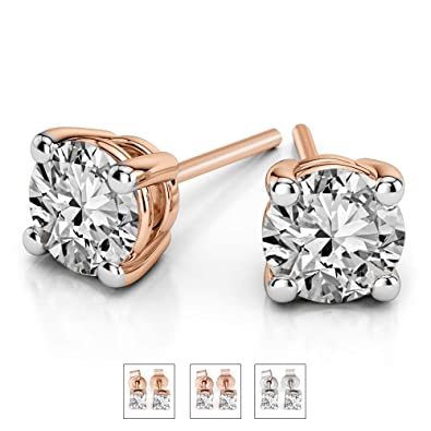 Luxury 1 5 cttw IGI Certified Diamond Stud Earrings For Women Natural  Diamond Solitaire Earrings b97241f829