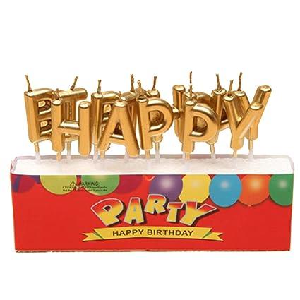Carta vela (13-letters Set) Chic Carta velas de cumpleaños ...