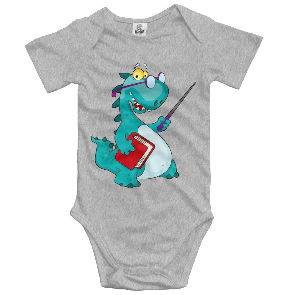 Jaylon Baby Climbing Clothes Romper Cute Dinosaur Infant Playsuit Bodysuit Creeper Onesies Ash