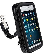 Zacro Custodia Impermeabile Supporto Cellulare Universale Moto Ruotabile da Specchietto Retrovisore di Motociclo Motorino Scooter per Smartphone GPS e Dispositivi 17cm x 9cm