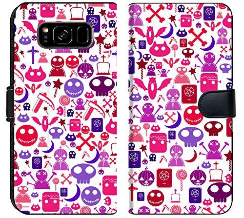 Luxlady Samsung Galaxy S8 Plus Flip Fabric Wallet Case Image ID: 32053208 Halloween icon Background Illustration]()