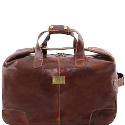 Tuscany Leather Barbados Sac à roulettes Marron  Amazon.fr  Bagages 8c0cd83f3d5