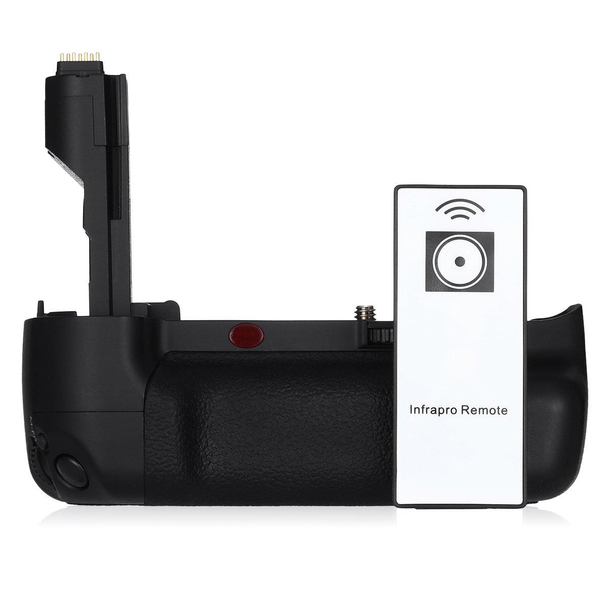 Powerextra BG-E7 Vertical Battery Grip Canon EOS 7D Digital SLR Camera Infrared Remote Control Work LP-E6/LP-E6N 6 AA-Size Battery