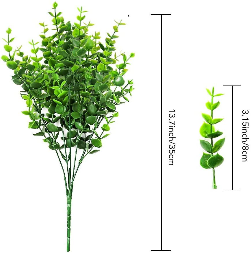 Indoor and Outdoor Decoration CEWOR 8pcs Artificial Greenery Plants Fake Plastic Boxwood Shrubs for Wedding Courtyard