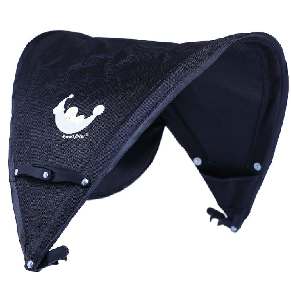 Baby Stroller Sunshade Maker Infant Stroller Canopy Cover Half [BLACK] by Panda Superstore (Image #1)